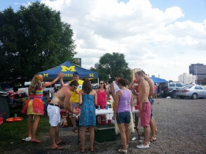Tailgating before Jimmy Buffett